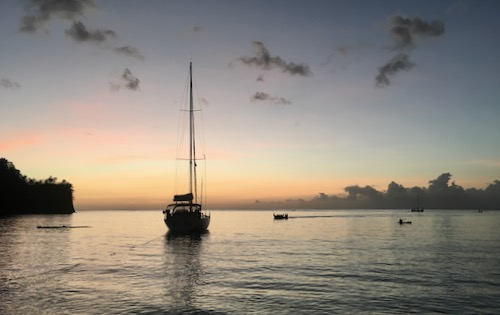 BlueFoot Travel in St Vincent & The Grenadines anchorage of Cumberland Bay on Nemo