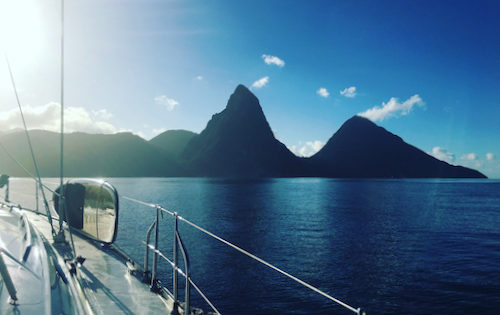 BlueFoot Travel at the foot of the St Lucian Pitons, part of our adventure sailing vacation