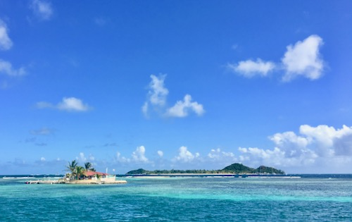 Happy Island in the Grenadines. One of our stops on our New Year Caribbean Sailing Holiday in 2021 - 500