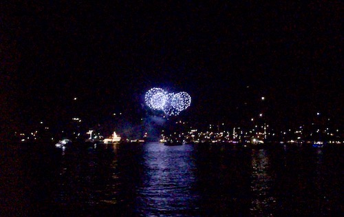 BlueFoot Travel in Bequia for New Years Eve watching the fireworks from Nemo