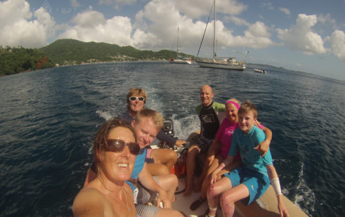 Off to snorkel at Molinere, one of the highlights when sailing in Grenada