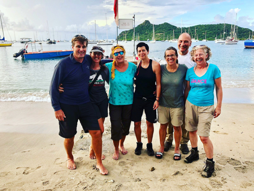 Group guest shot before we head to dinner at the Crazy Turtle in Carriacou.