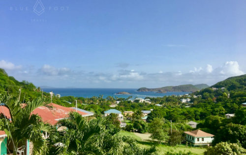 The beautiful south coast of Bequia overlooking Mustique