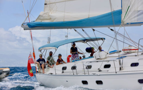 Nemo and BlueFoot Travel guests heading into Bequia