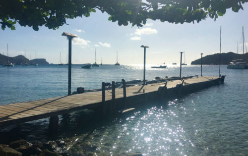 One of the dinghy docks in Bequia overlooking the anchorage in St Vincent & The Grenadines