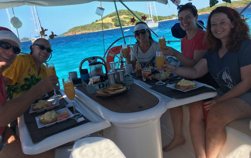 BlueFoot Travel Breakfast on Nemo in Tobago Cays on Christmas Day