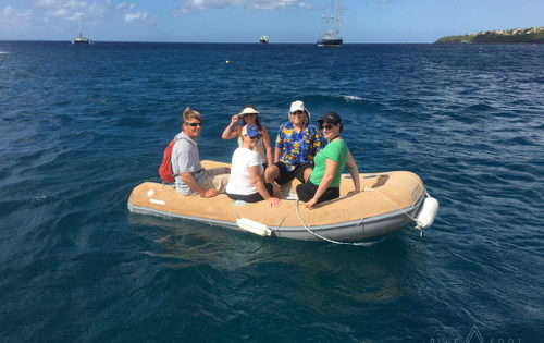 Exploring the local islands in Dory The Dingy