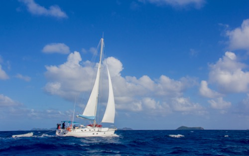 Join our shared cabin charter in the BVI - 500