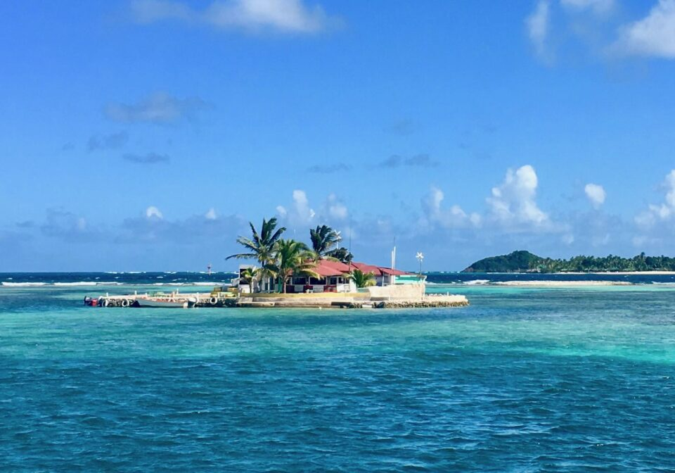 Happy Island. One of the highlights when sailing on Nemo in the Grenadines.