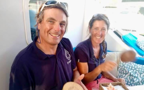 About Us - Cabin Charter Crew - Samantha Burrough and Neil Collier - from BlueFoot Travel