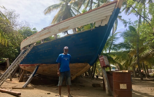 A local boatbuilder from Windward in Carriacou
