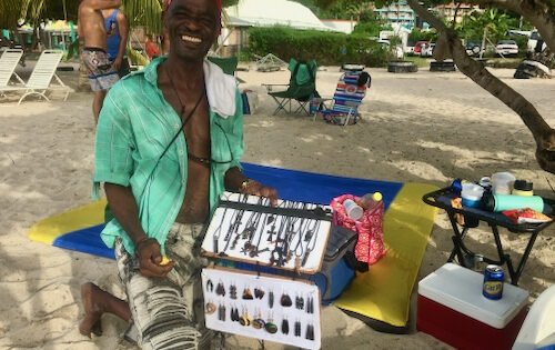 Wonderful jewelry for sail on Grand Anse beach in Grenada