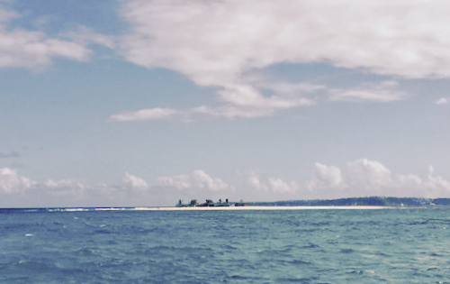Sandy Island in Anguilla as seen from the yacht
