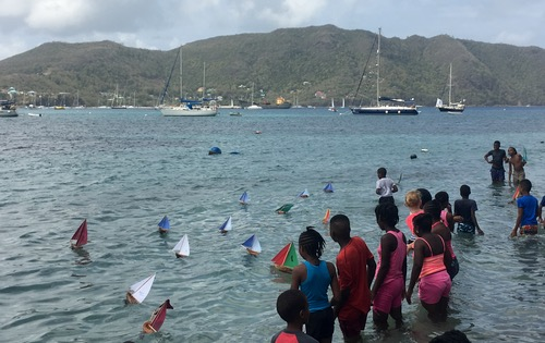 And they are off!! The Easter Coconut Boat Race is started