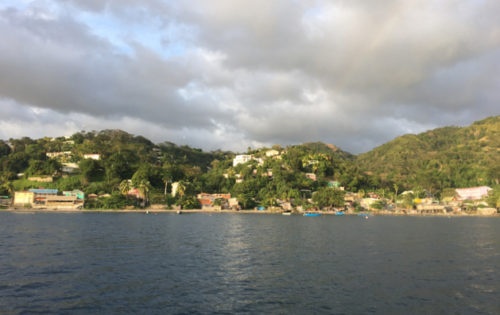 The Roseau anchorage in Dominica, as taken from BlueFoot Travel's SY Nemo