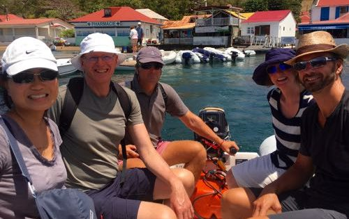 Out and about in The Saintes, Guadeloupe in Dorey the Dinghy