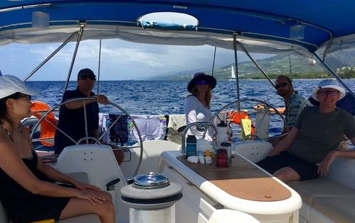 A relaxing sail down the coast of Guadeloupe on BlueFoot Travel's SY Nemo