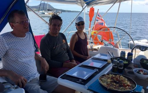 A BlueFoot Travel Lunch stop in Portsmouth, Dominica