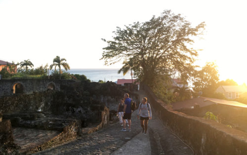 Sunset walk around St Pierre