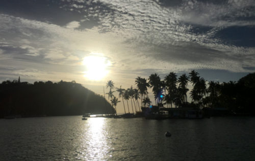 Sun just about to set in Marigot Bay, St Lucia