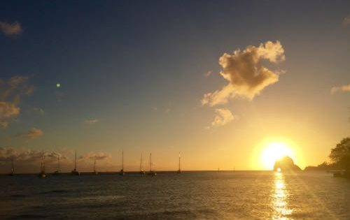 A stunning sunset at Young Island, St Vincent & The Grenadines