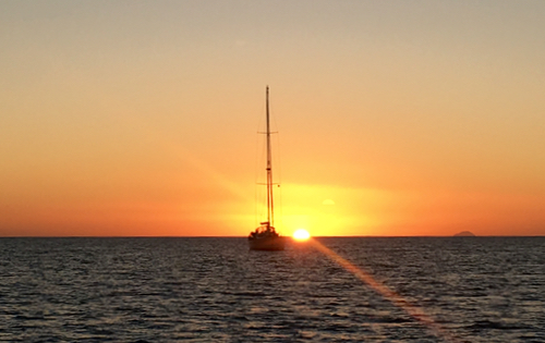 Sunsets from yacht Nemo as seen in Antigua & Barbuda