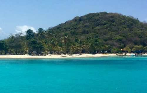 The entrance to Tabogo Cays in the Grenadines