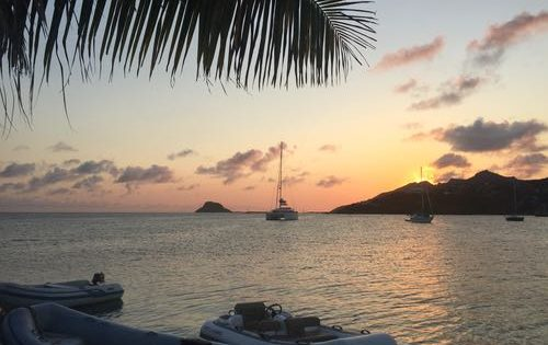 The sun setting at Happy Island, The Grenadines