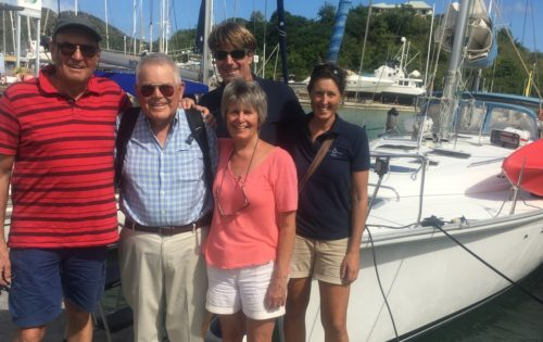 BlueFoot Travel guests on their last day in Jolly Harbour