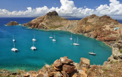 Ile Fourchue, a great lunch stop on any crewed yacht charter