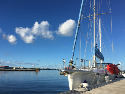 BlueFoot Travel's SY Nemo at Port Louis Marina in St Martin