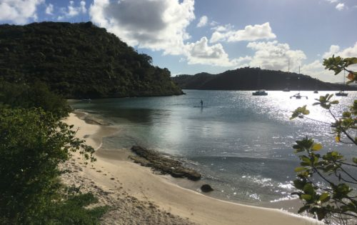 A secluded beach on Green Island. Perfect for paddle boarding. Absolute heaven in Antigua & Barbuda