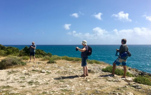 Guests enjoying time at one of the remoter islands around Antigua & Barbuda