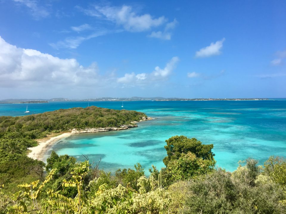 The stunning view from the top of Great Bird Island taken during a BlueFoot Travel sailing holiday