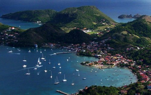 Aerial view of the Saintes in Guadeloupe - cropped